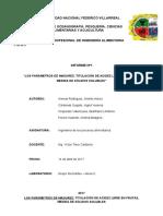 LOS PARÁMETROS DE MADUREZ