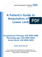A Patients Guide to Amputation of the Lower Limb