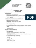 Documento de Apoyo Factorizacion