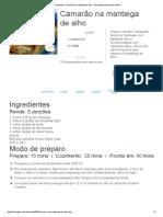 Receita de Camarão Na Manteiga de Alho - Receitas Do Allrecipes Brasil