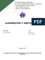 Trabajo de Ventilacion e Ilunimacion