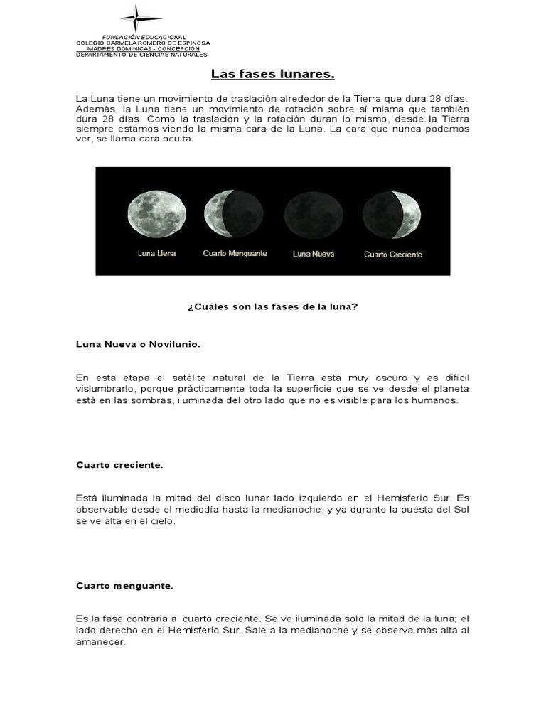 Fases Lunares y Eclipes