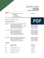 zavierevans-resume2017