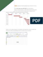 Carta Gantt en Excel