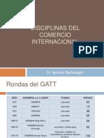 Disciplinas del Comercio Internacional