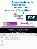 tutorial para instalar interfaz CPE