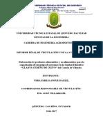 INFORME DE VINCULACIÓN CON LA COMUNIDAD AGROINDUSTRIA