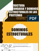 estructura secundaria y dominios estructurales