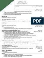 finance resume pdf