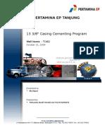 T-162 1338in Cementing Program (Oct 21,2009) - Copy