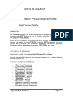 Practica Calificada - Desarrollo y Produccion de Software