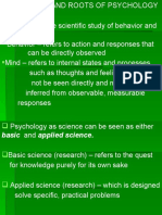 Roots, Nature of Psychology, Perspective in Psychology