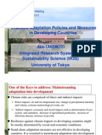 Effective Adaptation Policies and Measures in Developing Countries