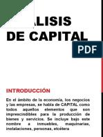 Unidad 4 Análisis de Capital