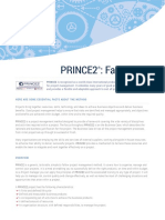 Prince2 Fact Sheet