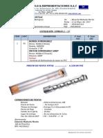 Cfm049.1-17 Prointsac - Bombas Sumergible Para Pozo