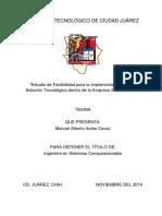 TESINA - Estudio de Factibilidad Para La Implementación de Una Solución Tecnológica Dentro de La Empresa SEI MEDICAL
