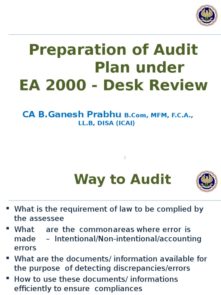 EA 2000 Desk Review & Reconciliation | Debits And Credits | Value Added Tax