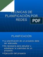 Tecnicas de Planificación Por Redes