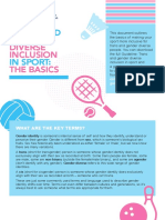 The Basics Trans and Gender Diverse Inclusion in Sport
