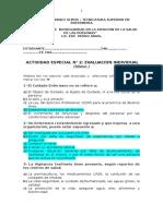 ACTIVIDAD ESPECIAL N°2 C de Bioseguridad Mg. Pedro Arias 2016 Tema 2 TM