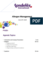 Mondelez Allergen Management