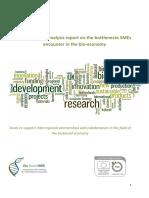 BBNWE Analysis Report on Bottlenecks SMEs Encounter in Bioeconomy Final