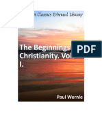 Paul Wernle - Beginning of Christian Vol.1