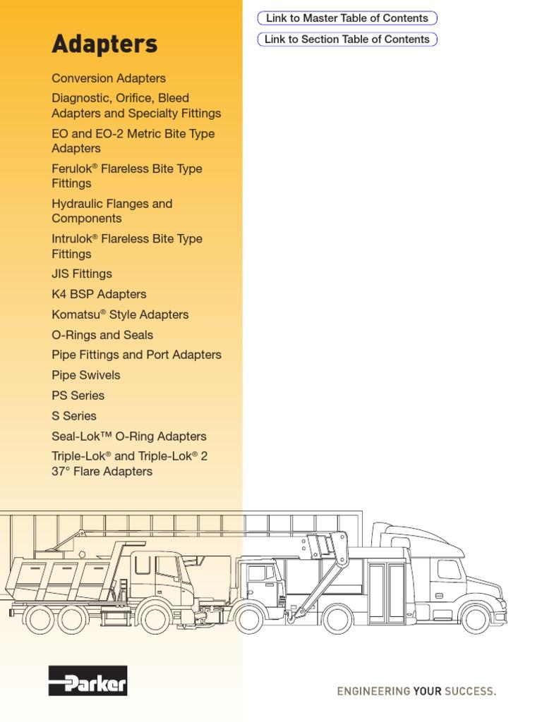 Parker M10LCFX Metric Tube Nut EO Bite Type 10 mm OD Tube Steel