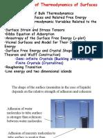 2 Surface Thermodynamics 2012
