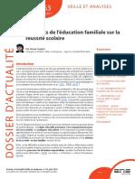 Dossier d Actualite Ife n 63 Les Effets de l Education Familiale Sur La Reussite Scolaire Juin 2011