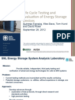 ESS 2012 Peer Review - Life Cycle Testing and Evaluation of Energy Storage Devices - Summer Ferreira, SNL