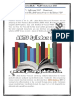AKTU Syllabus 2017 | Download MBA/MCA/B.Tech/BFA/B.Pharm Courses Syllabus PDF