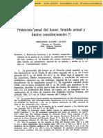ALONSO ALAMO Mercedes, Protección Penal Del Honor Sentido Actual y Límites Constitucionales