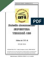 Buletin Doc. Expertiza Tehnica Nr. 133 Iulie 2016