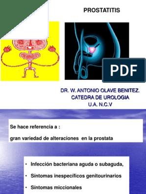 prostatitis severa dolor de espalda