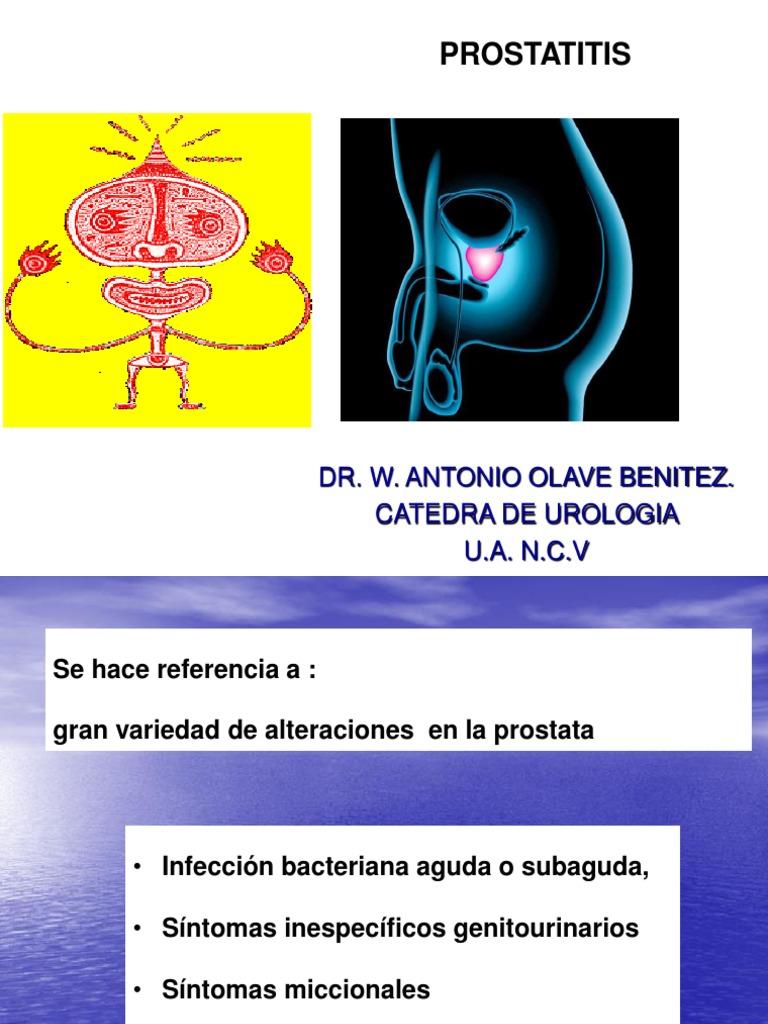 prostatitis bacteriana y dolor en las piernas