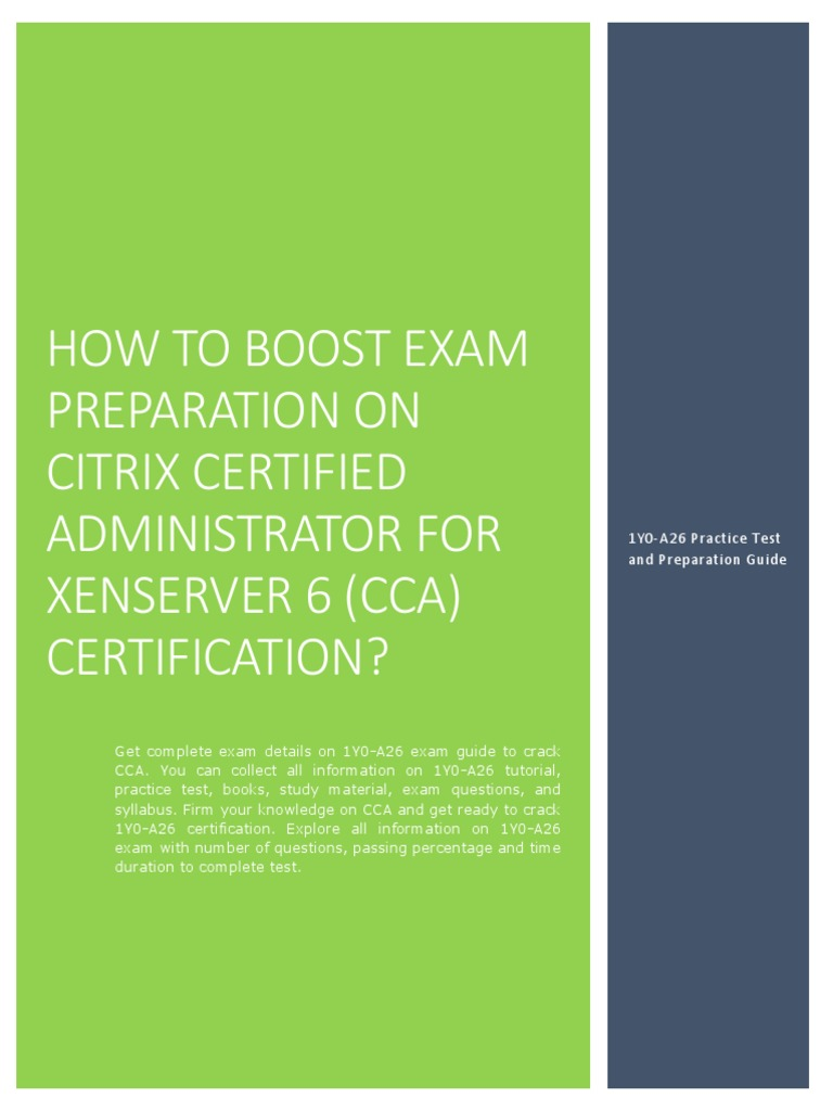 Certification Guide And Exam Summary On Citrix Certified