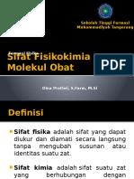 1. Sifat Fisikokimia Molekul Obat