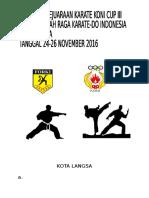 Proposal Kejuaraan Daerah Koni Cup III