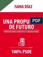 Propuestas de Susana Díaz para el 39 Congreso del PSOE