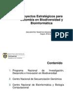 Proyectos Estratégicos para Colombia en Biodiversidad y Bioinformática