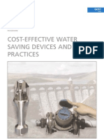 Cost-Effective Water Saving Devices & Practices