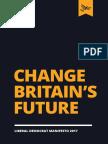 Liberal Democrat Manifesto 2017 - Change Britain's Future