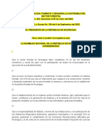 Ley Conservacion Fomento Desasrrollo Sostenible Sector Forestal