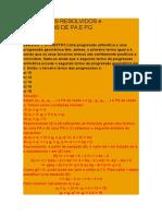 Exercícios Resolvidos e Propostos de Pa e Pg