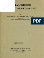 Handbook to the Septuagint (Richard Ottley)