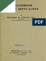 Handbook to the Septuagint (Richard Ottley)