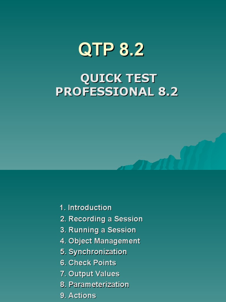 Qtp tutorial with ppt software development software engineering baditri Gallery