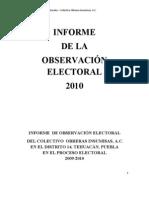 Informe electoral Insumisas 2010